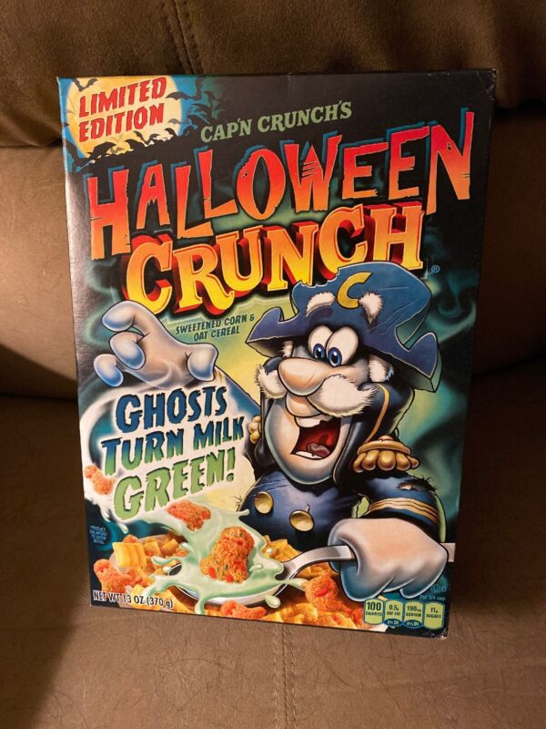 Cap'n Crunch Halloween Crunch Cereal Exp 5/13/17 Sealed Box
