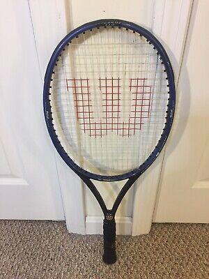 Używany, Wilson Graphite Quad 110 OverSize Tennis Racket Grip 4 3/8 Powerful Control Nice na sprzedaż  Wysyłka do Poland