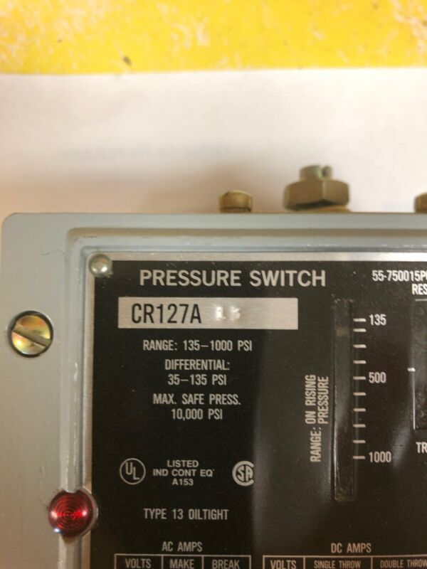 General Electric CR127A13 Pressure Switch