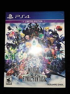 World of Final Fantasy Limited Edition PS4 Sealed Brand New