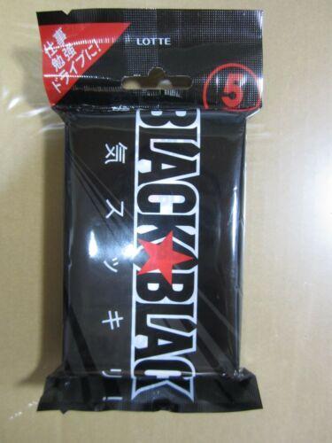 Lotte Black Black Gum 9 Sheets in one pack × 5 pack × 10 sets / From Japan