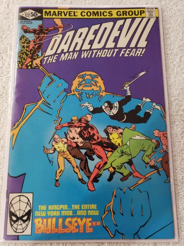 DAREDEVIL #172 VF FRANK MILLER ART 1981 MARVEL COMICS
