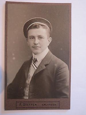 Erlangen - Corps Guestphalia - WS 1908/09 - Alfred Stamm - CDV / Studentika