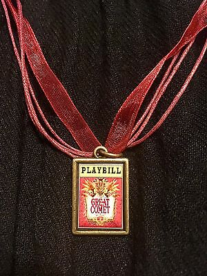Josh Groban Great Comet War & Peace/Playbill Necklace-100% to FYL Foundation