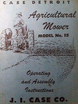 Case J.i Rear Mounted 3-point Hitch Sickle Bar Mower No. 15 Owner Parts Manual