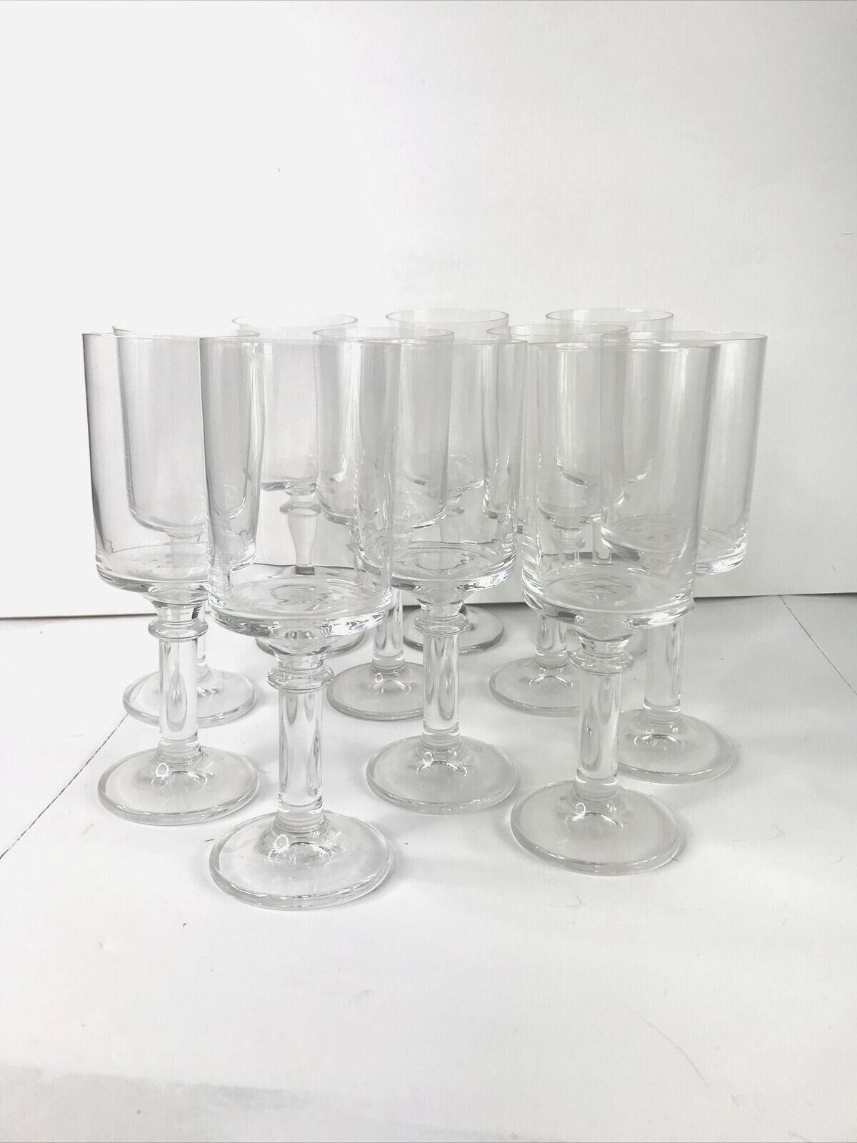 Champagne Flute Faceted Glasses Modern Tall Clear Wine Glasses QTY 11 - $131.99