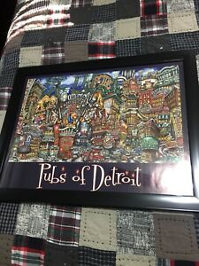 Pubs Of Detroit Framed Picture