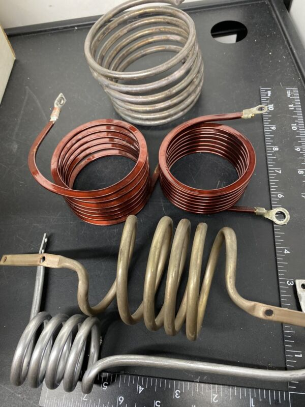 Lot of Coiled Induction Heater Heat Sinks