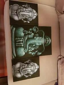 Elephant canvas x 3 Melton Melton Area Preview