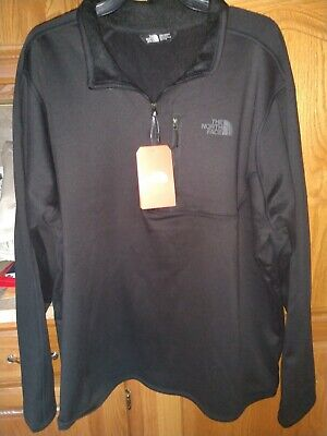 NWT The North Face Men's Canyonlands Zip Pullover TNF Black XXL 2XL