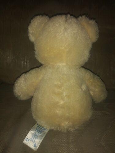 Build A Bear Workshop Teddy Bear Plush 15 Cream Beige Stuffed Animal BAB Paw... - $17.99