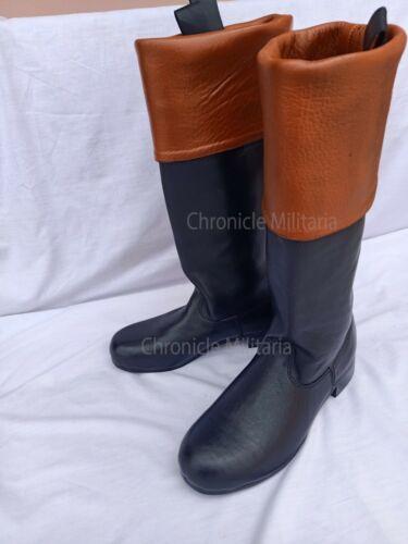 Tan top boots.Rev war officer boots