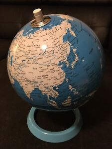 "Blue and white 8"" globe"