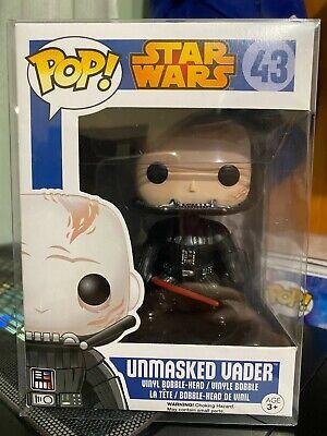 Funko Pop! Star Wars Unmasked Vader #43 Vinyl Figure Vaulted JAPAN Sticker RARE