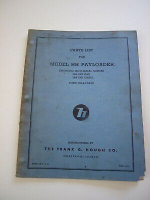 Ih Hough Hh Front-end Wheel Pay Loader Tractor Parts Catalog Manual List 18a19a