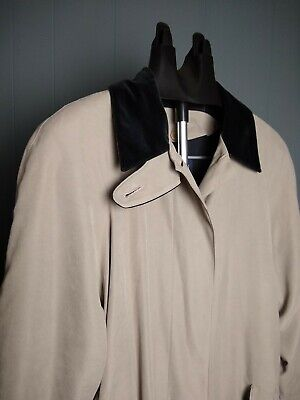 Anne Klein Vintage Trench Coat Jacket 12P long sleeve button up double layer