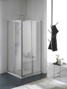 Mampara ducha acrilico dos lados apertura corredera for Mampara 70x70