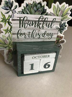 Wall Desk Calendar Cute Office Supplies Accessories Set Vtg For Women Perpetual