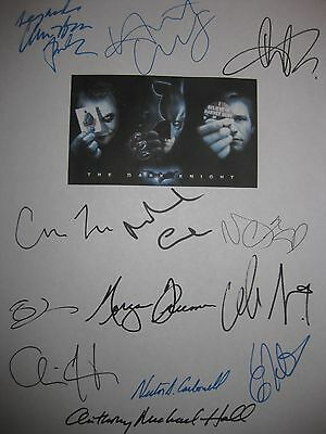 The Dark Knight Signed Script X13 Christian Bale Heath Ledger Aaron Eckhart RPNT
