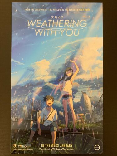 """ANIME NYC 2019 3RD YEAR """"WEATHERING WITH YOU"""" MINI DS PROMO POSTER~8.5""""x14"""" NEW!"""