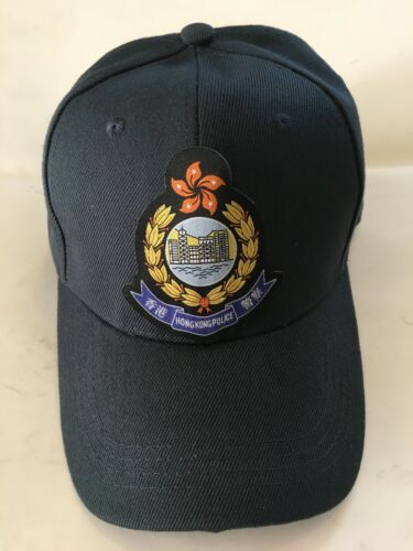 Cap #3A - H. K. Police. (1997 - )w/color woven large badge,