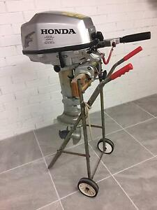 Honda 5hp Four Stroke Outboard Fishing Point Lake Macquarie Area Preview