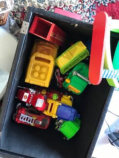 Great toys including 6 different puzzles, car toys and many other toys