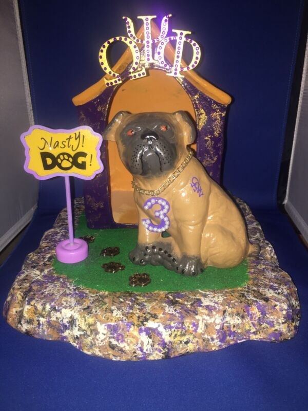 Omega Psi Phi Fraternity Dog And House!  Can Change Line number!