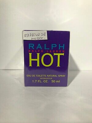 "RALPH LAUREN ""HOT"" 1.7Oz/50ML EAU DE TOILETTE SPRAY RARE Discontinued NEW IN BOX"
