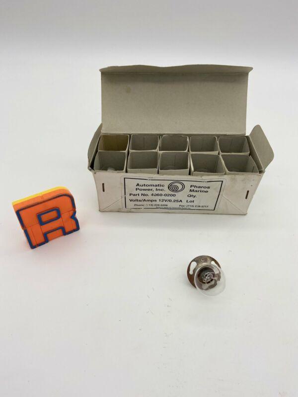 Pharos Marine Automatic Power 4060-0200 Light Bulbs, *Lot of (10) Bulbs Per Box*
