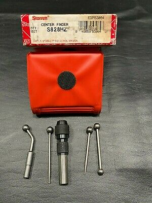 Starrett No S828hz Center Finder Complete Wiggler Machinist Tool Case Box