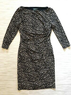 Lauren Ralph Lauren Dress Size 8 Leopard Cheetah Stretch Career Work Comfort