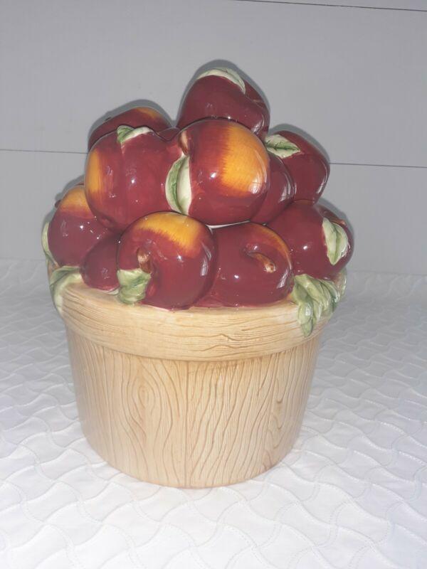 Apples in a Basket Cookie Jar