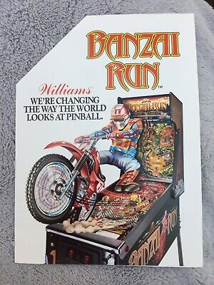 Banzai Run Pinball Machine Flyer