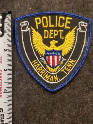 Vintage Harriman Police Patch - Tennessee - Cheesecloth Back