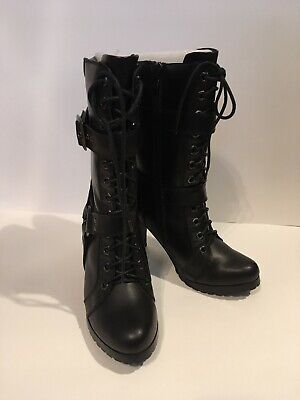 Xelement Women's Motorcycle Boots | 2-Buckle Laced | Size 7 | - Used, Pre-Owned