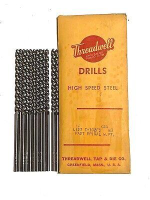 No.24 Drill Bit Taper Length Drills High Speed Steel 12 Pack USA Made