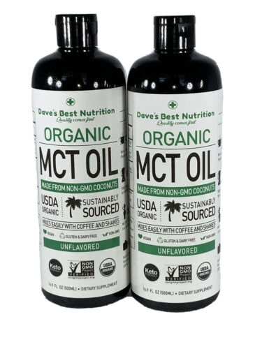 2 Pack Premium MCT Oil KETO Vegan diet Friendly Two 16oz Shi