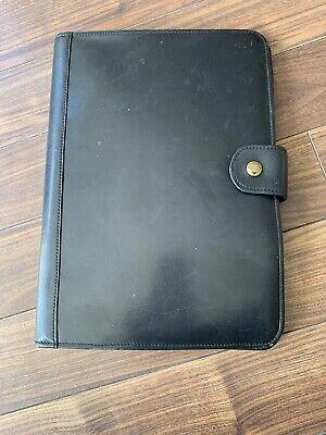 HiDesign Black Leather Document Portfolio Organiser Document Case A4