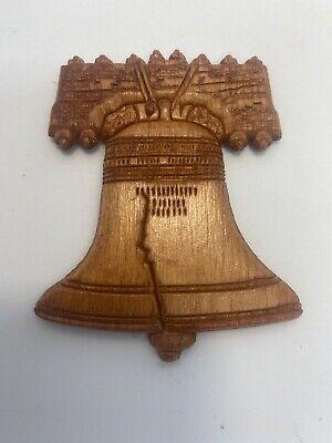Liberty Bell Brown Wooden Refrigerator Magnet-Souvenir