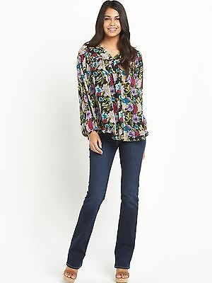 South Womens Floral Print Lightweight Smock Blouse Top BNWT RRP £37 Size 12