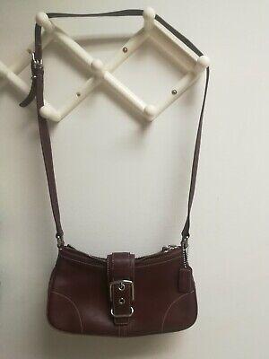 Buckle Flap Bag (COACH Leather Buckle Flap Soulderbag Crossbody Bag #7540 )