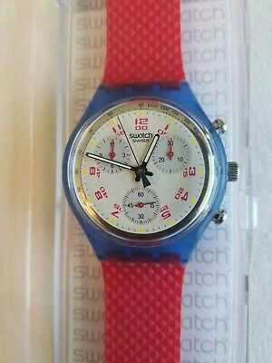 Swatch Watch 1992 Chrono/Chronograph JFK SCN103 With Case (Plz Read Description)