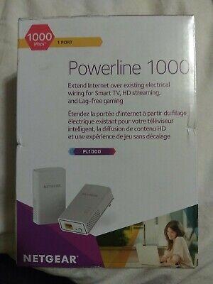 NETGEAR Powerline 1000 Mbps, 1 Gigabit Port (PL1000-100PAS)