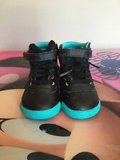 Girls Toddler size 5c Black And Aqua Reebok Shoes | eBay