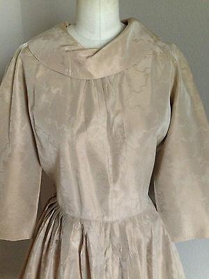 Vintage 1950's Silk Dress Full Skirt