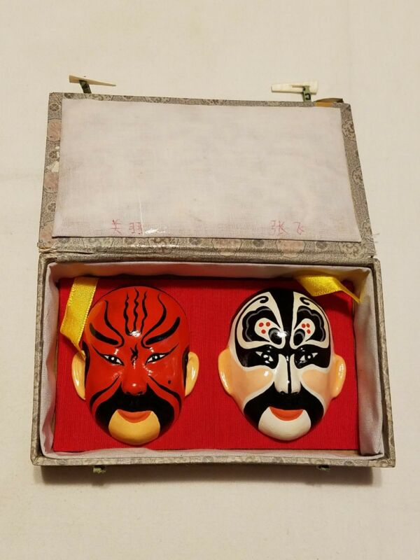 Asian Chinese Opera Facial Makeup Clay Masks  - in case