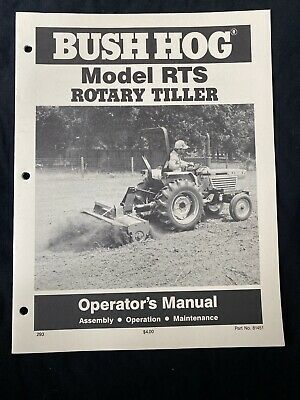Bush Hog Model Rts Rotary Tiller Operators Manual 795