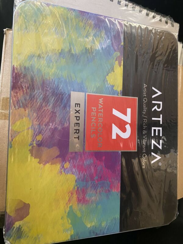 ARTEZA Professional Watercolor Pencils, Set of 72, Multi Colored Art Drawing in