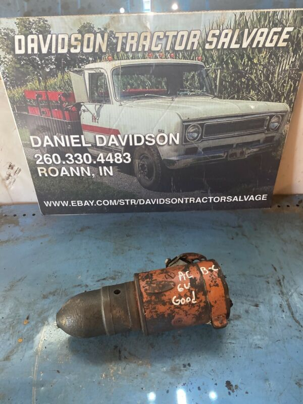 Allis Chalmers B C AC tractor working engine motor 6V starter assembly